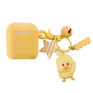 Cute Yellow Chicken Silicone Protective Shockproof Case For Apple Airpods 1 & 2 - Casememe.com