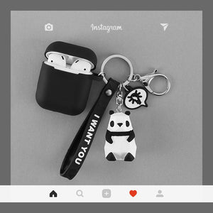 Cute Dinosaur Reindeer Rabbit Panda Cat Silicone Protective Shockproof Case For Apple Airpods 1 & 2 - Casememe.com