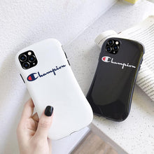 Load image into Gallery viewer, Champion Style Round Corner Shockproof Protective Designer iPhone Case For iPhone 12 SE 11 Pro Max X XS Max XR 7 8 Plus - Casememe.com