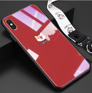 Corgi Tempered Glass Designer iPhone Case For iPhone SE 11 Pro Max X XS XS Max XR 7 8 Plus - Casememe.com