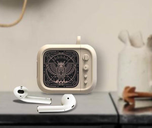 Cute Vintage TV Silicone Protective Shockproof Case For Apple Airpods 1 & 2 - Casememe.com