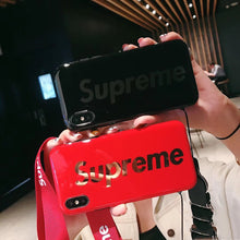 Load image into Gallery viewer, Supreme Style Glossy Electroplating Silicone Shockproof Protective Designer iPhone Case For iPhone SE 11 Pro Max X XS Max XR 7 8 Plus - Casememe.com