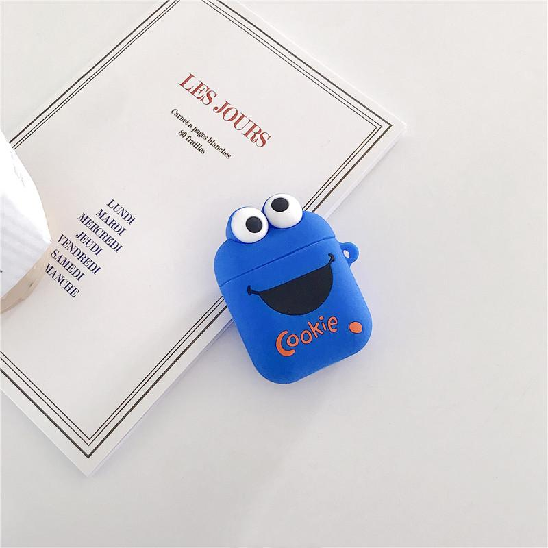 Sesame Street Elmo Cookie Silicone Protective Shockproof Case For Apple Airpods 1 & 2 - Casememe.com