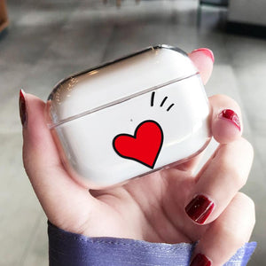 Heart Clear Hard Protective Designer Case For Apple Airpods Pro - Casememe.com