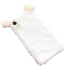 Load image into Gallery viewer, Bear Ears Furry Shockproof Protective Designer iPhone Case For iPhone SE 11 Pro Max X XS Max XR 7 8 Plus - Casememe.com