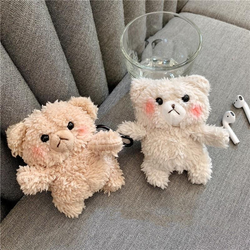 Teddy Bear Furry Protective Case For Apple Airpods 1 & 2 - Casememe.com