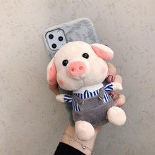 Load image into Gallery viewer, Piggy Toy Furry Shockproof Protective Designer iPhone Case For iPhone 11 Pro Max X XS Max XR 7 8 Plus - Casememe.com