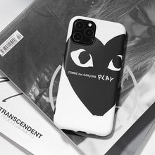 Load image into Gallery viewer, Comme Des Garcons PLAY Style Silicone Shockproof Protective Designer iPhone Case For iPhone SE 11 Pro Max X XS Max XR 7 8 Plus - Casememe.com