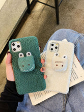 Load image into Gallery viewer, Cute 3D Crocodile Furry Shockproof Protective Designer iPhone Case For iPhone SE 11 Pro Max X XS Max XR 7 8 Plus - Casememe.com