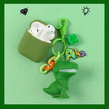 Load image into Gallery viewer, Green Dinosaur Pendant Silicone Protective Case For Apple Airpods Pro - Casememe.com