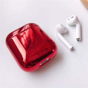 Shiny Metallic Edgy Hard Protective Shockproof Case For Apple Airpods 1 & 2