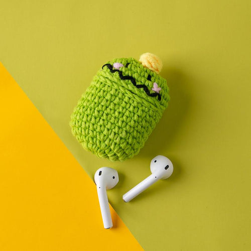 Tom Green Monster Knit Soft Protective Shockproof Case For Apple Airpods 1 & 2 - Casememe.com