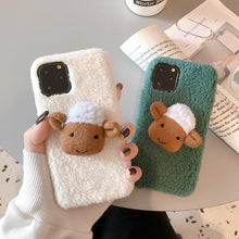 Load image into Gallery viewer, Cute 3D Sheep Furry Shockproof Protective Designer iPhone Case For iPhone SE 11 Pro Max X XS Max XR 7 8 Plus - Casememe.com
