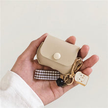 Load image into Gallery viewer, Leather Pouch Toast Keychain Protective Case For Apple Airpods Pro - Casememe.com
