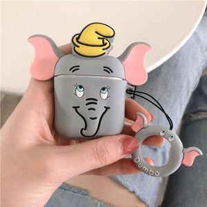 Dumbo Flying Elephant Silicone Protective Shockproof Case For Apple Airpods 1 & 2 - Casememe.com