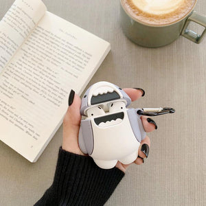 Cute Shark Silicone Protective Case For Apple Airpods 1 & 2 - Casememe.com