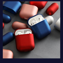 Load image into Gallery viewer, Metalic Smooth Hard Protective Shockproof Case For Apple Airpods 1 & 2 - Casememe.com