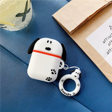 Load image into Gallery viewer, Snoopy Style Charles Silicone Protective Shockproof Case For Apple Airpods 1 & 2 - Casememe.com