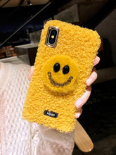 Load image into Gallery viewer, Smile Face Style Furry Shockproof Protective Designer iPhone Case For iPhone SE 11 Pro Max X XS Max XR 7 8 Plus - Casememe.com