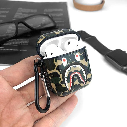Aape Style Camo Hard Silicone Protective Shockproof Case For Apple Airpods 1 & 2 - Casememe.com