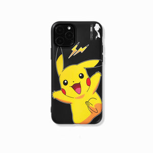 FRAGEMENT x Dark Pikachu Style Silicone Shockproof Protective Designer iPhone Case For iPhone SE 11 Pro Max X XS Max XR 7 8 Plus - Casememe.com