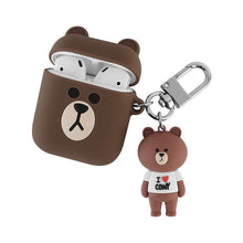 Load image into Gallery viewer, LINE Friends Bear Rabbit Cute Silicone Protective Shockproof Case For Apple Airpods 1 & 2 - Casememe.com