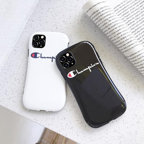 Champion Style Round Corner Shockproof Protective Designer iPhone Case For iPhone 12 SE 11 Pro Max X XS Max XR 7 8 Plus - Casememe