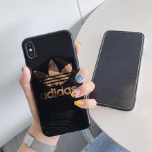 Load image into Gallery viewer, Adidas Style Electroplating Silicone Glossy Designer iPhone Case For iPhone 12 SE 11 Pro Max X XS XS Max XR 7 8 Plus - Casememe.com