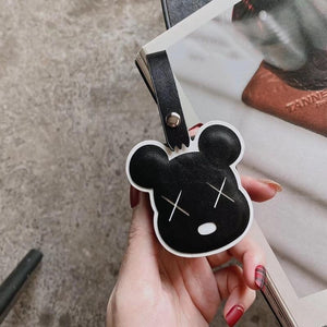 Kaws Style Luxury Leather Protective Case For Apple Airpods 1 & 2 - Casememe.com