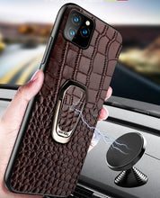 Load image into Gallery viewer, Leather Ring Holder Bumper Designer iPhone Case For iPhone SE 11 Pro Max X XS XS Max XR 7 8 Plus - Casememe.com