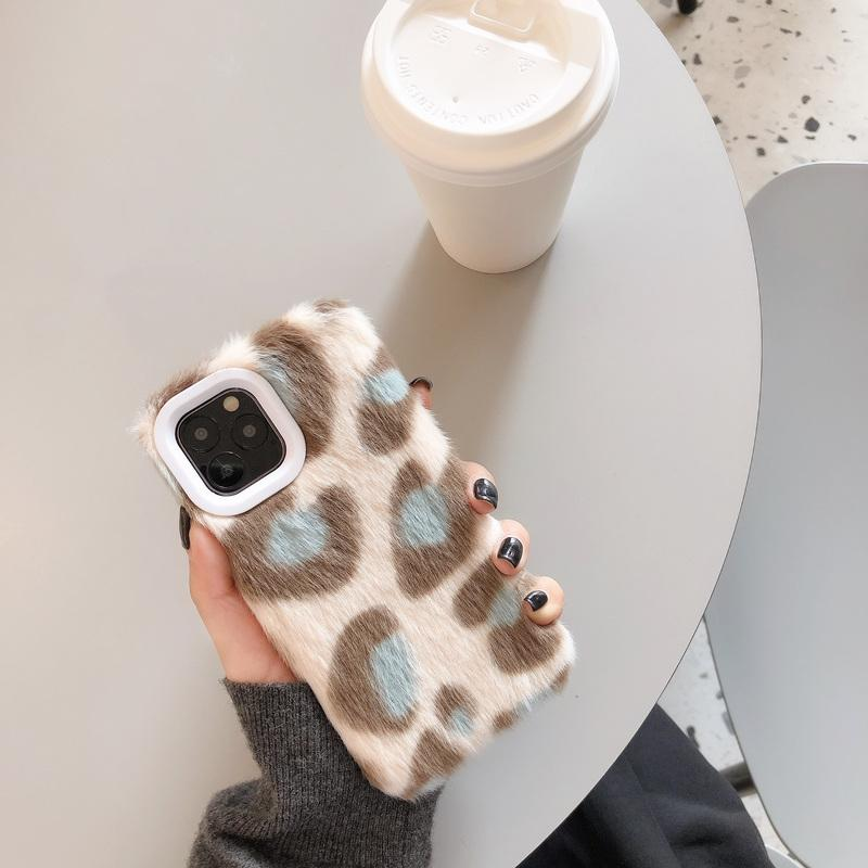 Modern Plush Furry Leopard Shockproof Protective Designer iPhone Case For iPhone 11 Pro Max X XS Max XR 7 8 Plus - Casememe.com