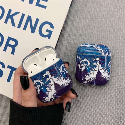 The Great Wave off Kanagawa Ukiyo-e Hard Protective Shockproof Case For Apple Airpods 1 & 2 - Casememe.com