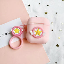 Load image into Gallery viewer, Sailor Moon Pink Star Silicone Protective Shockproof Case For Apple Airpods 1 & 2