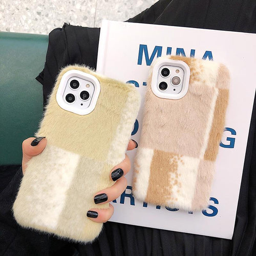 Minimalism Furry Shockproof Protective Designer iPhone Case For iPhone SE 11 Pro Max X XS Max XR 7 8 Plus - Casememe.com