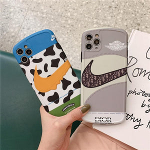 Christian Dior x Nike Style Shockproof Protective Designer iPhone Case For iPhone SE 11 Pro Max X XS Max XR 7 8 Plus - Casememe.com