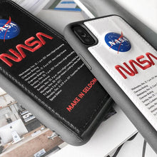 Load image into Gallery viewer, NASA Style Leather Shockproof Protective Designer iPhone Case For iPhone SE 11 Pro Max X XS Max XR 7 8 Plus - Casememe.com