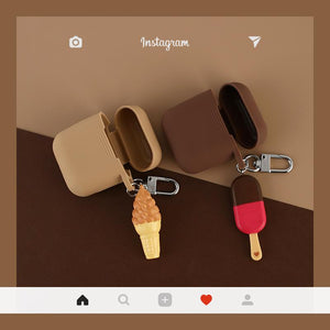 Ice Cream Popsicle Sweet Silicone Protective Shockproof Case For Apple Airpods 1 & 2 - Casememe.com