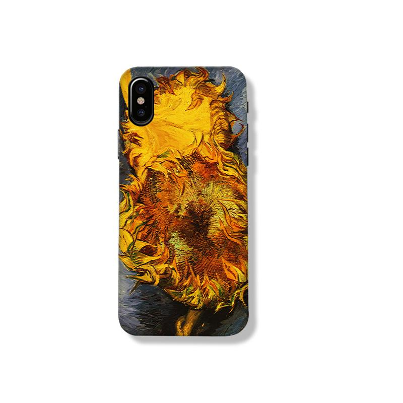 Van Gogh Style Sunflower Painting Silicone Shockproof Protective Designer iPhone Case For iPhone SE 11 Pro Max X XS Max XR 7 8 Plus - Casememe.com