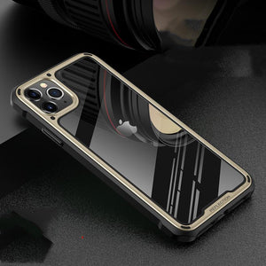 Bumper Frame Tempered Glass Designer iPhone Case For iPhone SE 11 Pro Max X XS XS Max XR 7 8 Plus - Casememe.com