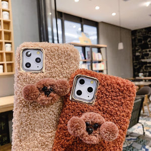 Poodle Puppy Furry Shockproof Protective Designer iPhone Case For iPhone 11 Pro Max X XS Max XR 7 8 Plus - Casememe.com