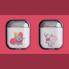 Load image into Gallery viewer, Dumbo Style Flying Elephant Clear Hard Protective Shockproof Case For Apple Airpods 1 & 2 - Casememe.com