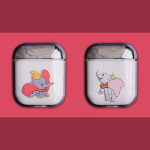 Dumbo Style Flying Elephant Clear Hard Protective Shockproof Case For Apple Airpods 1 & 2 - Casememe.com