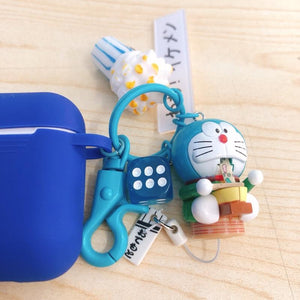 Doraemon Blue Silicone Protective Shockproof Case For Apple Airpods 1 & 2 - Casememe.com