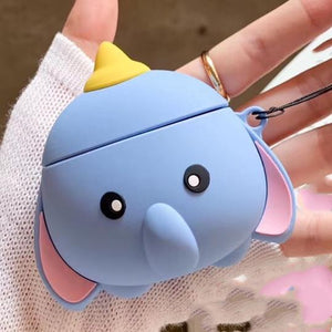 Disney Style Dumbo Flying Elephant Silicone Protective Shockproof Case For Apple Airpods 1 & 2 - Casememe.com