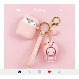Cute Mokyo Style Silicone Protective Case For Apple Airpods 1 & 2 - Casememe.com