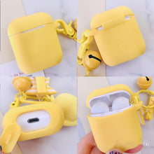 Load image into Gallery viewer, Cute Yellow Chicken Silicone Protective Shockproof Case For Apple Airpods 1 & 2 - Casememe.com