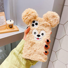 Load image into Gallery viewer, Cute Duffy Furry Shockproof Protective Designer iPhone Case For iPhone SE 11 Pro Max X XS Max XR 7 8 Plus - Casememe.com