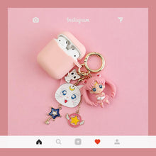 Load image into Gallery viewer, Sailor Moon Luna Usagi Tsukino Silicone Protective Shockproof Case For Apple Airpods 1 & 2