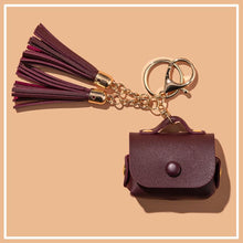 Load image into Gallery viewer, Leather Pouch Tassel Keychain Protective Case For Apple Airpods Pro - Casememe.com