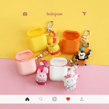 Load image into Gallery viewer, Piglet Style Keychain Silicone Protective Case For Apple Airpods 1 & 2 - Casememe.com